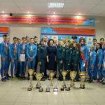 Губернатор Югры встретилась с победителями Чемпионата мира по пожарно-спасательному спорту